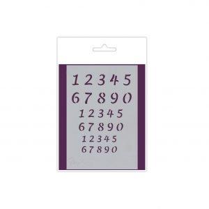 Plantilla números Script A6