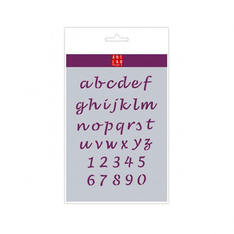 Plantilla letras Script minúsculas A5