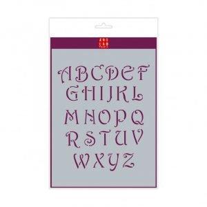 Plantilla letras Decorative mayúsculas A4