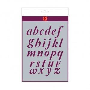 Plantilla letras Swash minúsculas A4