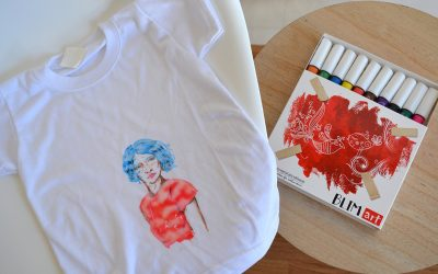 Rotuladores para pintar camisetas a mano con punta biselada